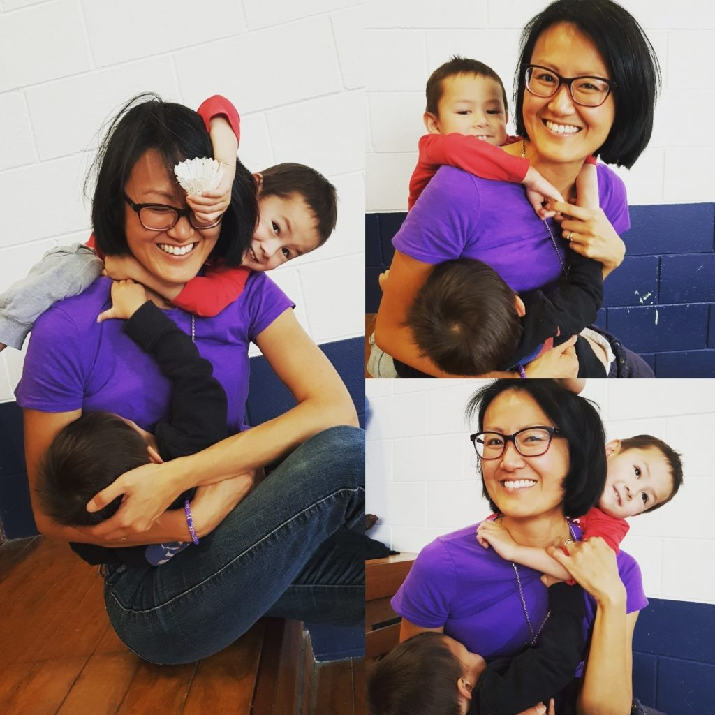 Sarah Yip breastfeeding